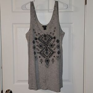 Torrid striped and tribal tank size 2